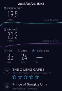 Wi-Fiの速度です!